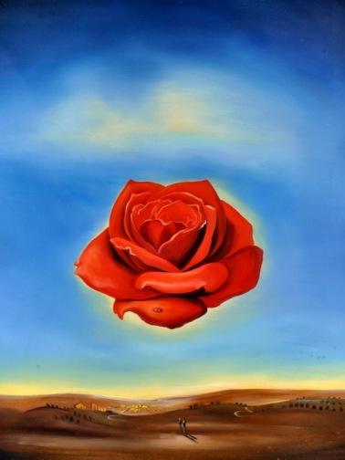 Rose Meditative-Salvador Dali